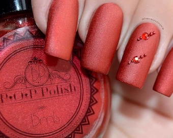 "P•O•P Polish Indie Nailpolish Nail Mirror ""Phyrrhus."" Matte Smoke & Mirrors Collection"