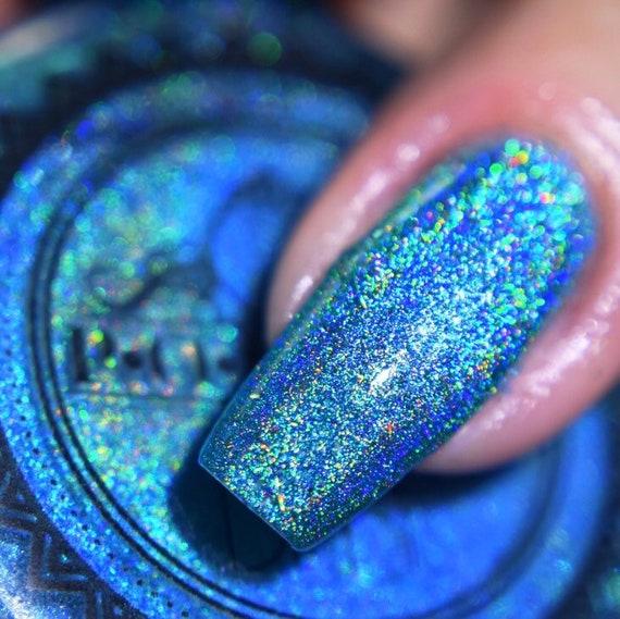 Rainbow Flakie Indie Nail Polish Earrings