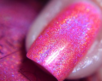 """P•O•P Polish Planet Holo """"Space Station Quickie"""" Indie Nail polish Holo Mega Holographic  Lacquer Holographic"""
