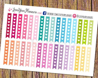 32 Heart Checklists Planner Stickers Checklist Stickers Functional Stickers Planner Stickers Rainbow Colors Calendar Sticker To Do Lists A81