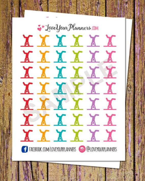 42 gymnastics planner stickers fitness stickers gymnastics etsy