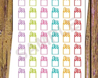 42 Grocery Shopping Planner Stickers Grocery Stickers Functional Stickers Icon Planner Bread Food Planner Stickers Food Stickers Rainbow A44