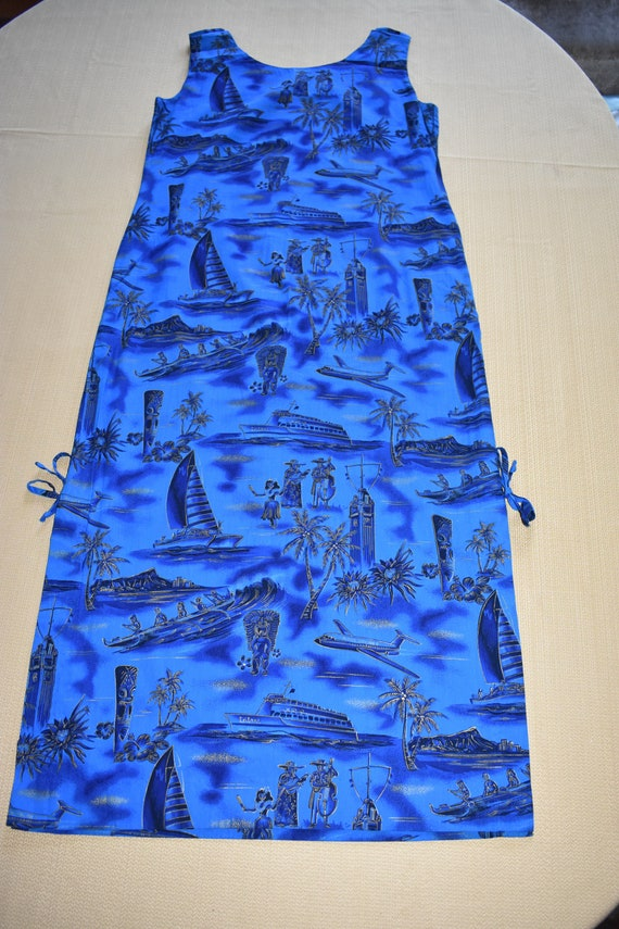 Womens Vintage Vivid Blue Dress by Fashions of Ha… - image 1