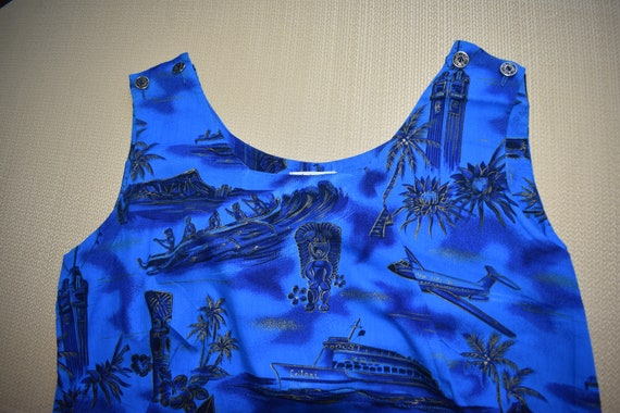 Womens Vintage Vivid Blue Dress by Fashions of Ha… - image 4