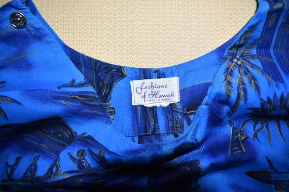 Womens Vintage Vivid Blue Dress by Fashions of Ha… - image 5