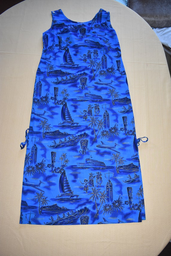 Womens Vintage Vivid Blue Dress by Fashions of Ha… - image 3