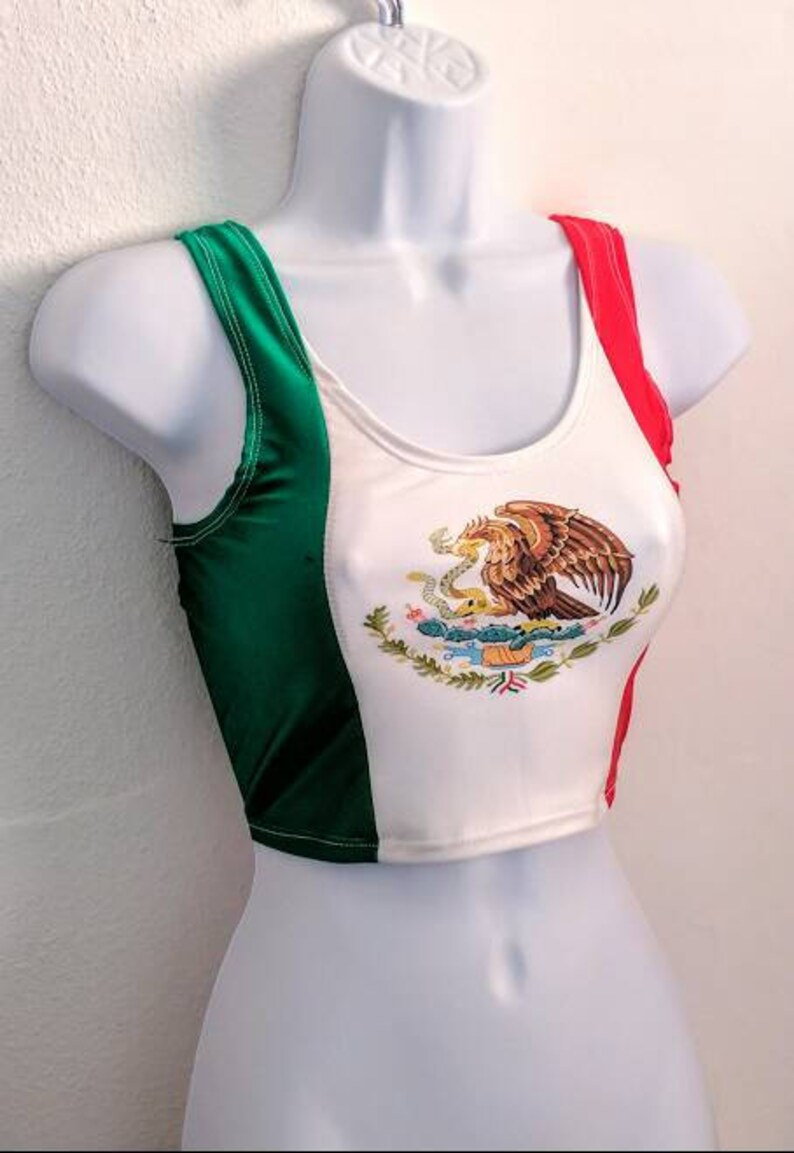 dce46195af Mexico Flag Crop Top Mexican Flag Tank Top Cinco De Mayo.