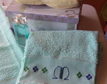 Hand-Embroidered bath towels