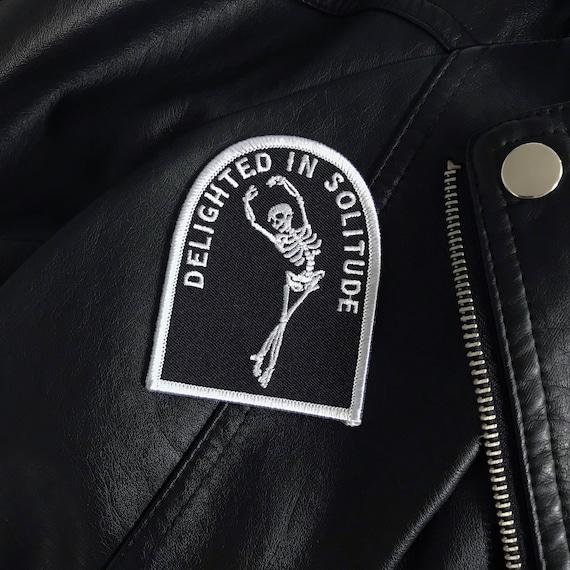 Einsamkeit Patch Life Club Eisen auf Patch Lederjacke bestickt Patch Punk Patch Biker Patch Skelett weggehen