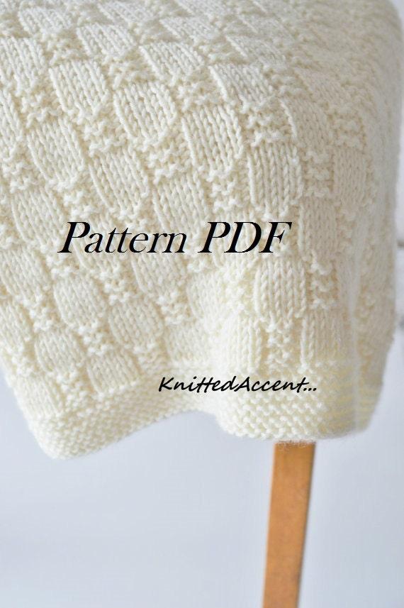 Easy Blanket Pattern Knit Baby Pattern Knitting Pattern Etsy