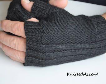 Fingerless mittens/gift for him/knit gloves/winter gloves/gloves/gloves wool/gloves winter/gloves and mittens/fingerless