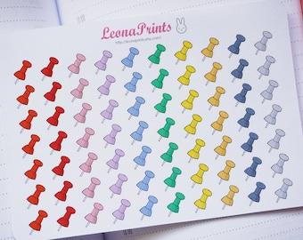 Pushpins Planner Stickers | Stationery for Erin Condren, Filofax, Kikki K and scrapbooking