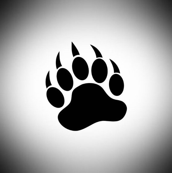 Bear Paw Decal