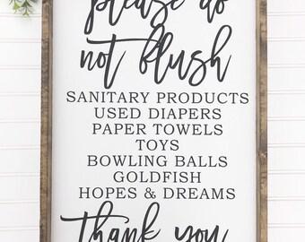 image relating to Free Printable Do Not Flush Signs named Do not flush Etsy