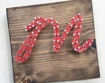 MADE TO ORDER - mini letter string art sign - initals - script