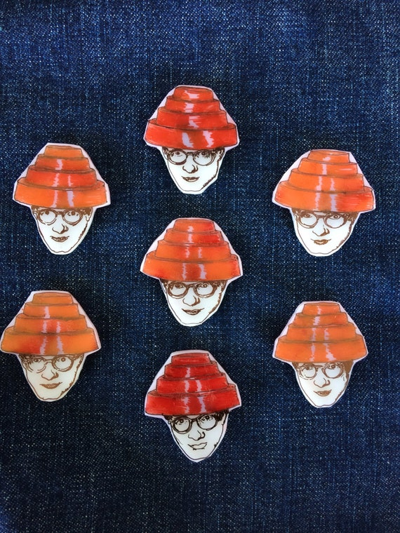 DEVO - Mark Mothersbaugh - magnet & pins