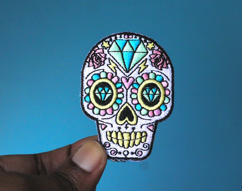 sugar skull day of the dead Frida kahlo patch patches image 0