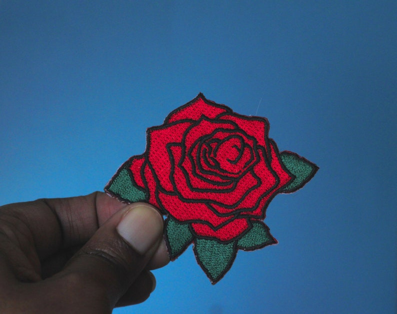 rose patch rose patch patches iron on patch embroidered image 0