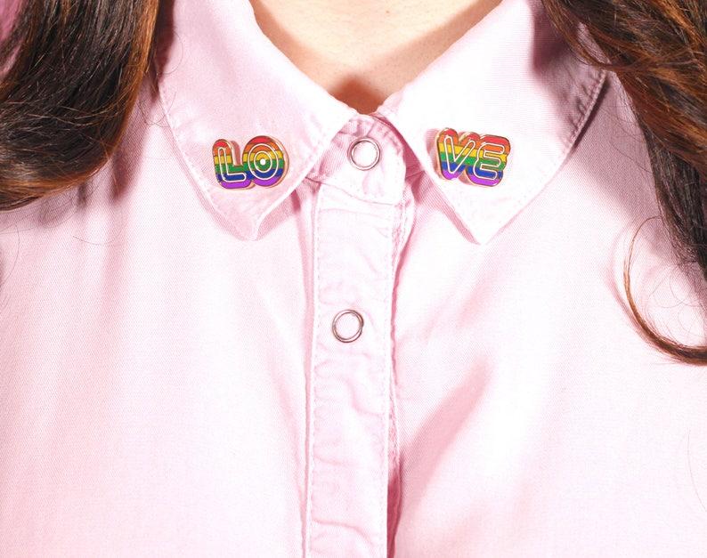 rainbow pride pin collar pin collar pins lapel pin enamel image 0