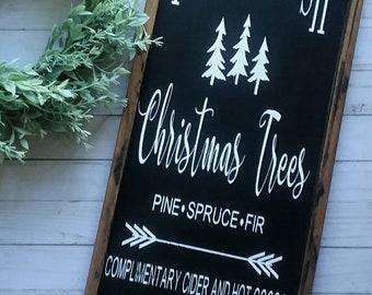 Farm Fresh Christmas Trees - Christmas Sign - Christmas Decor - Christmas Tree Sign - Holiday Sign - Holiday Decor - Winter Decor