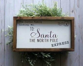 Letter To Santa - Letter To Santa Sign - Christmas Decor - Christmas Sign - Christmas Signs - Customizable Sign - Keepsake Letter To Santa