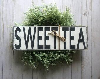 Sweet Tea - Sweet Tea Sign - Wood Sign - Kitchen Sign - Kitchen Decor - Kitchen Signs - Farmhouse Sign - Farmhouse Kitchen - Coffee Bar Sign