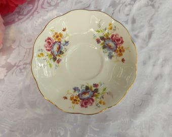 Sale English Vintage ROYAL ALBERT Crown China Tea Cup & Saucer American Beauty Roses design Gift idea