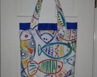 Beach Fish Tote Bag