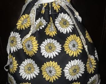 Daisy Draw String Bag
