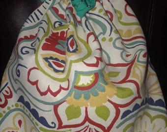 Multi  Colored Draw String Bag