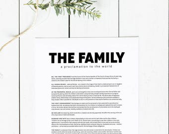 The Family: A Proclamation to the World | LDS Family Proclamation Print Digital Download  | Latter Day Saints Printable LDS Artwork
