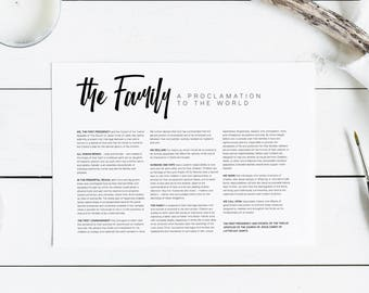 The Family: A Proclamation to the World | LDS Printable Digital Download Family Proclamation Print | Modern LDS Artwork