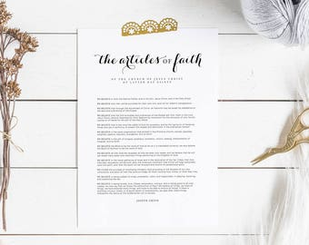 The Articles of Faith | LDS Printable Digital Download Articles of Faith Print | Latter Day Saints LDS Artwork | The Church of Jesus Christ