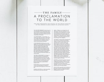 photo regarding The Family a Proclamation to the World Free Printable titled The Household: A Proclamation toward the Earth Electronic Obtain Etsy