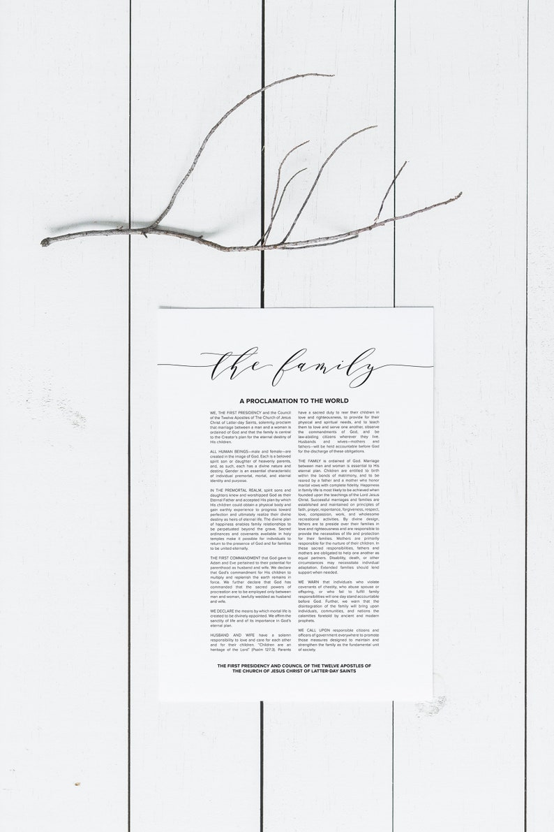 graphic regarding The Family a Proclamation to the World Printable named The Household: A Proclamation in direction of the Environment Electronic Obtain Household Proclamation Enormous Printable LDS Spouse and children Proclamation Print