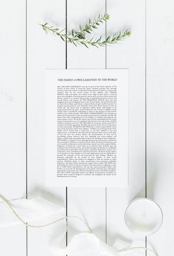 graphic about The Family a Proclamation to the World Printable called The Relatives: A Proclamation in direction of the Global Electronic Obtain Loved ones Proclamation Hefty Printable LDS Spouse and children Proclamation Print
