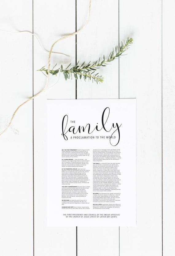 picture about The Family a Proclamation to the World Free Printable known as The Spouse and children: A Proclamation toward the International Electronic Down load Household Proclamation Weighty Printable LDS Relatives Proclamation Print