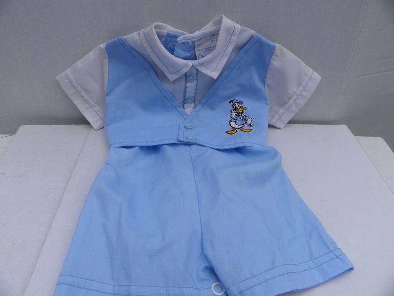 6f9d6f642 Vintage Baby Boy Romper Donald Duck 0-3 Months Donald Duck