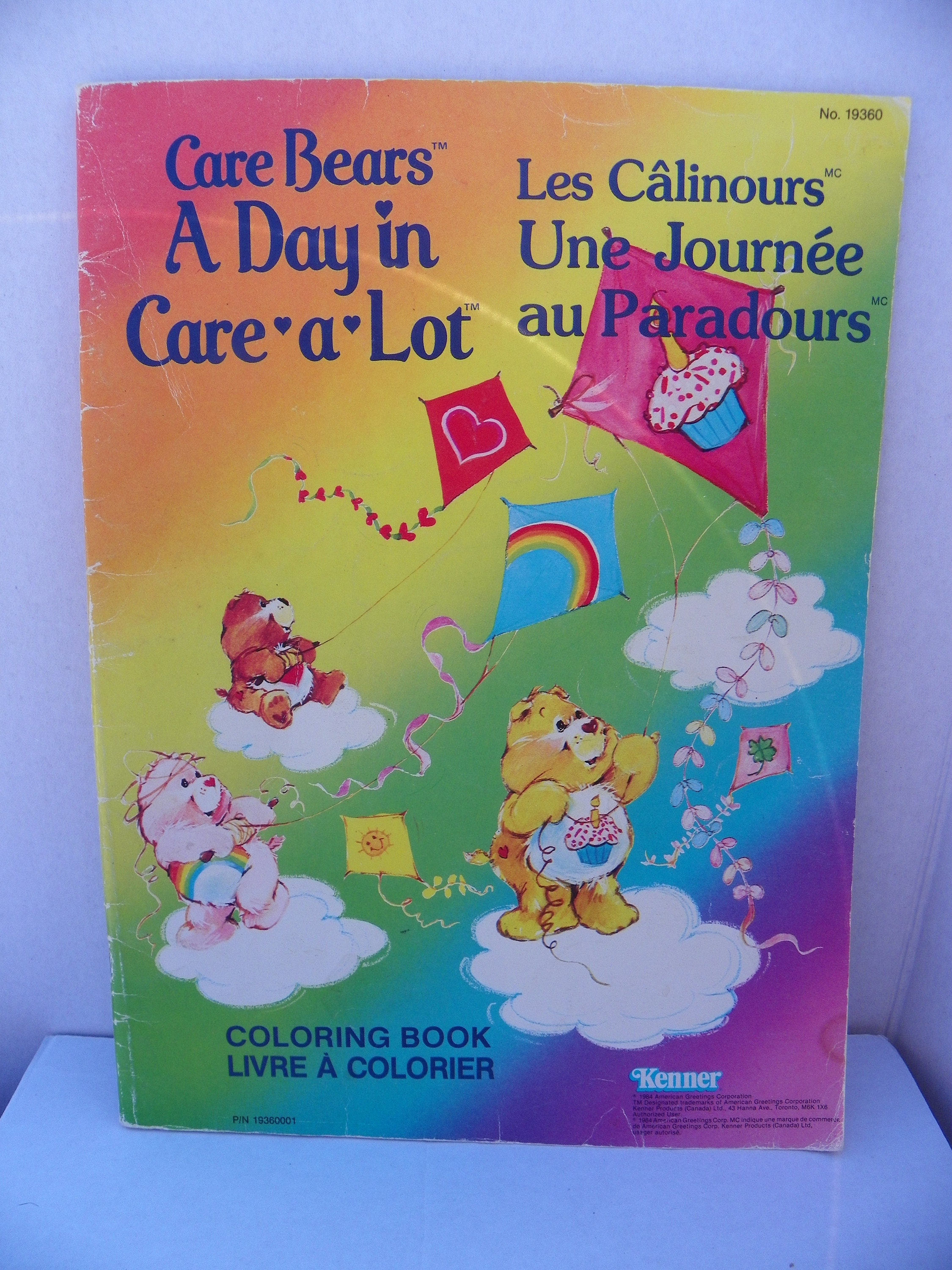 1984 Care Bears Coloring Book Vintage Kenner American Etsy