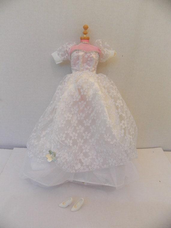 Suknia ślubna Barbie Rocznika I Buty Odzież Barbie Ubrania Etsy