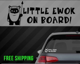 Baby Vader on board Car Window Vinyl Sticker Decal in 8 colours