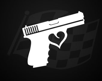 Pro gun decal | Etsy