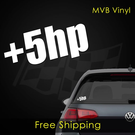 5 HP  Vinyl window car truck sticker decal funny  JDM Turbo boosted