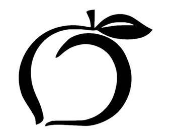 Georgia Peach Vinyl Decal Sticker 396