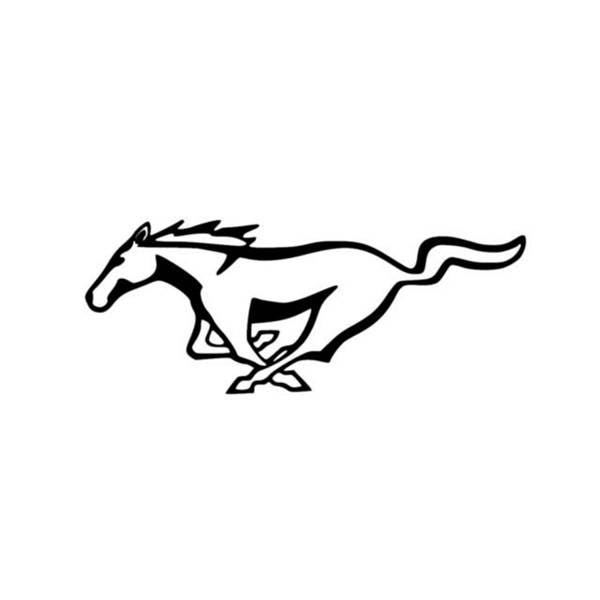ford mustang horse emblem outline vinyl decal window. Black Bedroom Furniture Sets. Home Design Ideas