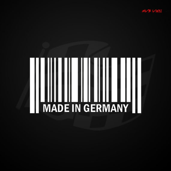 f7a5c1544d8 Made In Germany Barcode UPC Vinyl Decal Sticker Bar Code 545