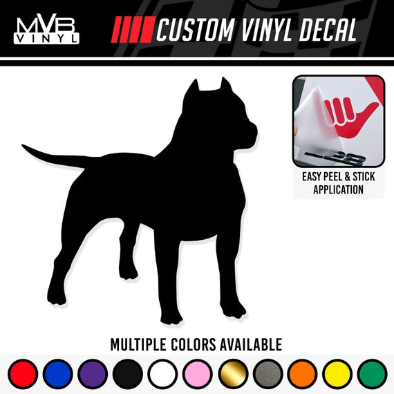 Love-a-Bull Hug-a-Bull Kiss-a-BullVinyl Pitbull Pit Bull Dog Decal Sticker