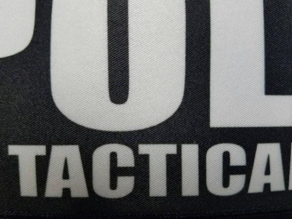 "3x8/"" POLICE TACTICAL MEDIC OD Green Black Hook Morale Raid Patch SWAT LEO Badge"