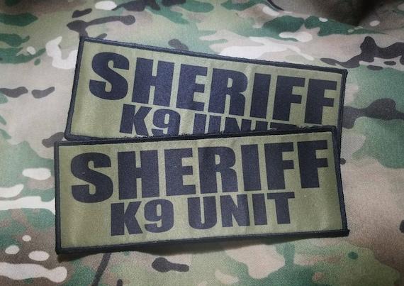 "3x8/"" SHERIFF TACTICAL MEDIC OD Green Black Hook Morale Raid Patch SWAT Badge"