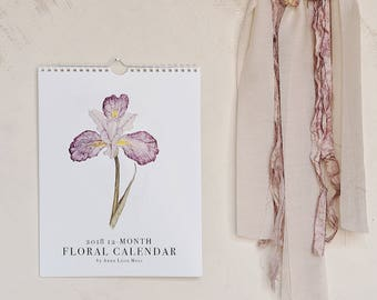 2018 Floral Watercolor Calendar